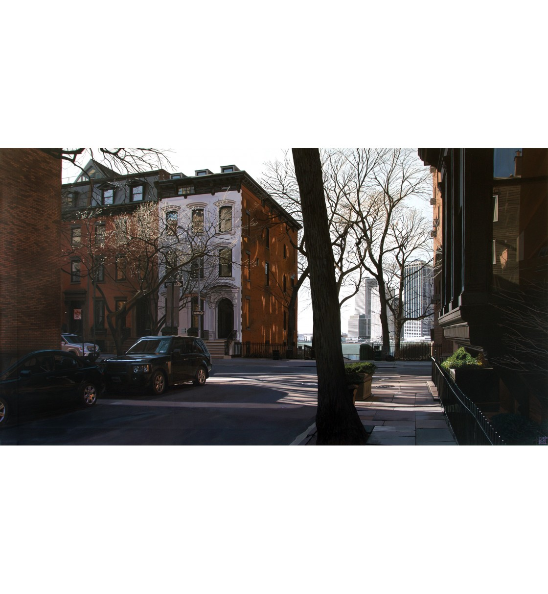 """Columbia Heights/Brooklyn"" Lámina Giclée"