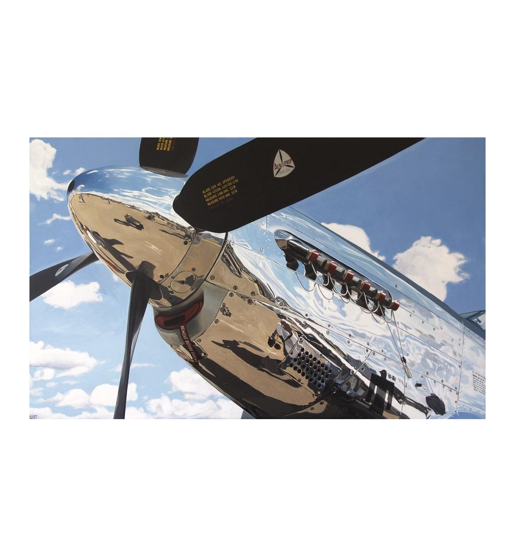 """""""Mustang P-51"""" Lámina Giclée"""