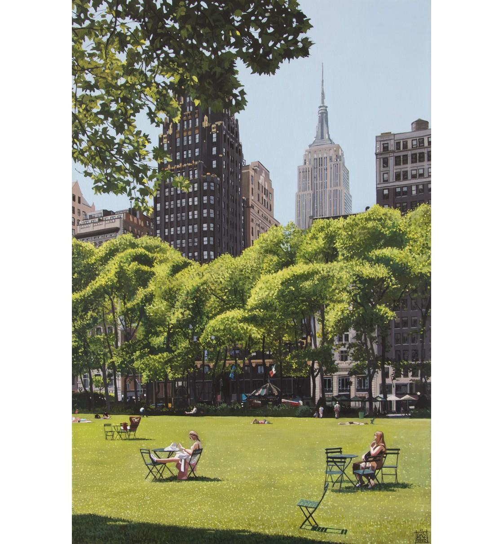"""""""Bryant Park/NYC"""" Lámina Giclée"""
